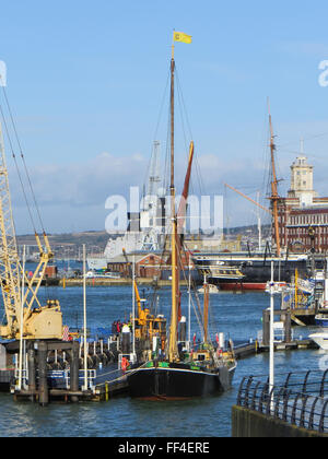 Thames Barge at Portsmouth - Stock Photo