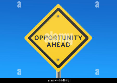 opportunity ahead isolated on blue sky - Stock Photo