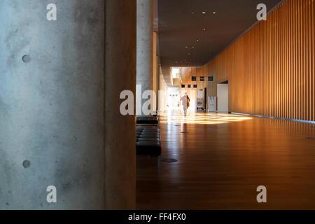 Interior of The National Art Center, Roppongi, Tokyo - Stock Photo