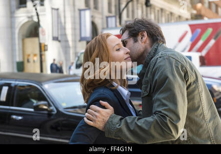 THE X-FILES  20th Century Fox TV series with Gillian Anderson and David Duchovny in the 1993  production - Stock Photo