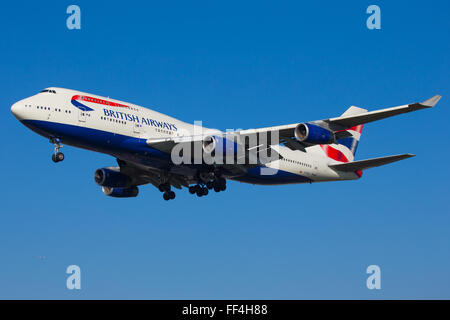 British Airways Boeing 747 Jumbo Aircraft - Stock Photo