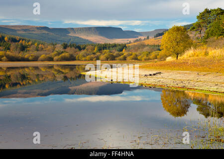 Pontsticill reservoir, Brecon Beacons, Wales in Autumn. Stock Photo