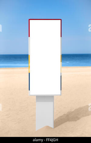 Empty vertical banner on the beach. - Stock Photo