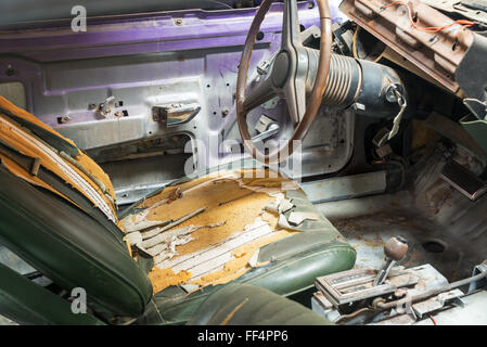 a rusty and damaged american classic car from 1970s used as a shared stock photo royalty free. Black Bedroom Furniture Sets. Home Design Ideas