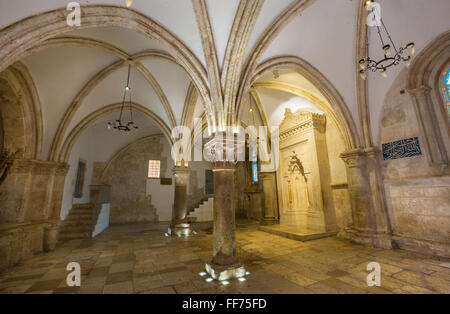 JERUSALEM, ISRAEL - MARCH 4, 2015: The Coenaculum (after tradicon the Last Supper hall). - Stock Photo