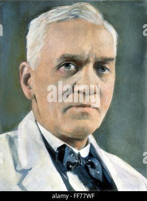 SIR ALEXANDER FLEMING /n(1881-1955). Scottish bacteriologist. Stock Photo