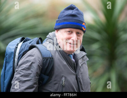 Boris Johnson,Mayor of London and MP for Uxbridge and South Ruislip,at Number 10 Downing Street for a Cabinet meeting - Stock Photo