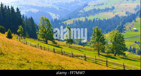 Summer mountains in sunny countryside. - Stock Photo