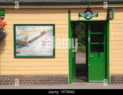Station building at Medstead and Four Marks Mid Hants preserved steam railway - Stock Photo