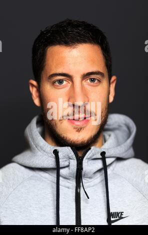 London, UK. 10th February, 2016. Eden Hazard of Chelsea and Belgium seen in a private portrait photoshoot. Credit: - Stock Photo