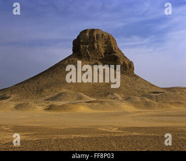 Black pyramid (or Amenemhat III), 19th century,  Dashur, Egypt, Africa - Stock Photo