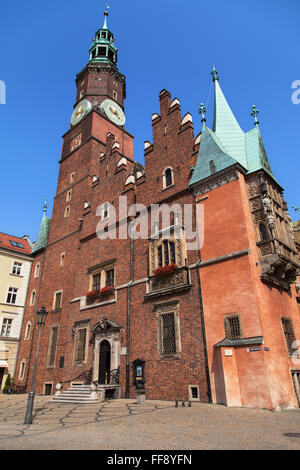 Town Hall of Wroclaw, Poland. - Stock Photo