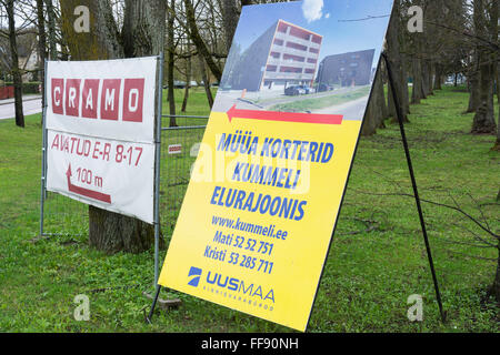 Accommodations For Sale. Raadi Tartu Estonia - Stock Photo