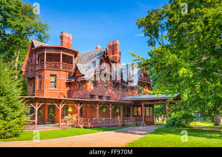 The Mark Twain House and Museum in Hartford, Connecticut, USA. - Stock Photo