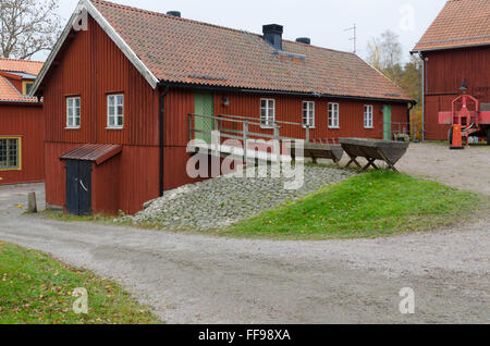one old barn at Gunnebo castle in molndal sweden - Stock Photo