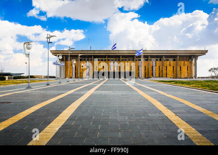 The Knesset Building. The Knesset is the legislative branch of the Israeli government. - Stock Photo