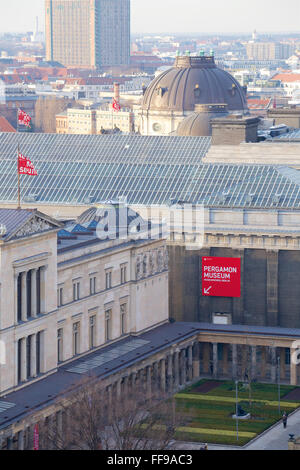 Aerial impressions of Museum Island, Berlin, Germany. - Stock Photo