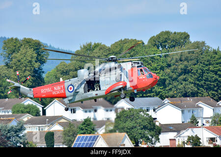 Sea King MK5 Search & Rescue Helicopter (Royal Navy Rescue) - Stock Photo