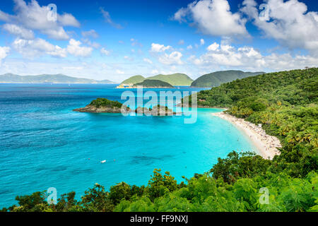 Trunk Bay, St John, United States Virgin Islands. - Stock Photo