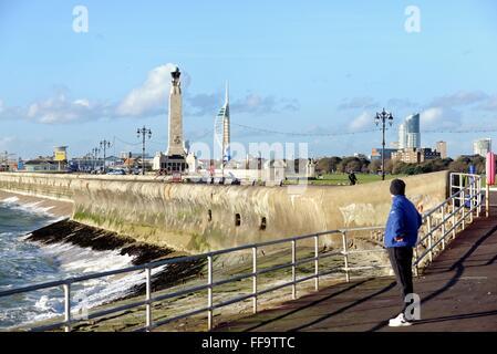 Seafront at Portsmouth Hampshire UK - Stock Photo