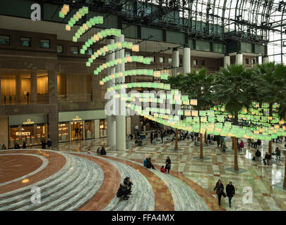 Winter Garden Atrium inside Brookfield Place on the North Cove ...