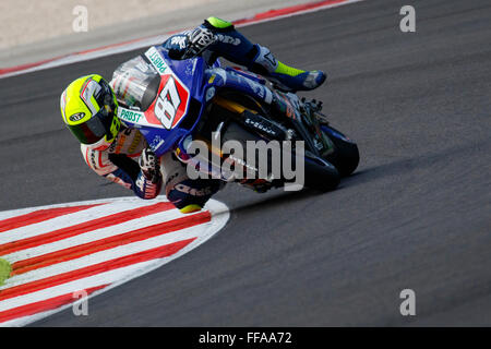 Misano Adriatico, Italy - June 20, 2015: Yamaha YZF R1 of Team Trasimeno, driven by MARCONI Luca - Stock Photo