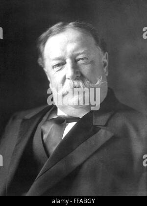 WILLIAM HOWARD TAFT (1857-1930) as 27th President of the United States in 1909 - Stock Photo