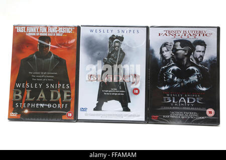 Blade, Blade II And Blade Trinity DVDS - Stock Photo