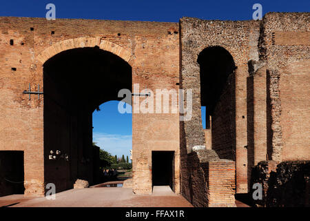 Domus Augustana on the Palatine hill in Rome, Italy - Stock Photo