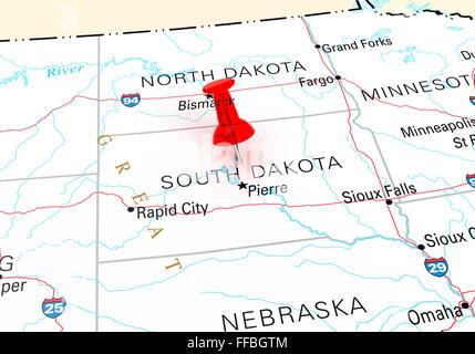 USA South Dakota Pierre South Dakota State Capitol Senate - Sd state map