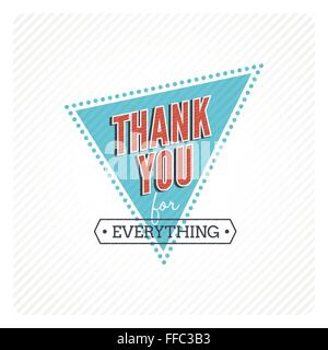 Vintage thank you card - Stock Photo