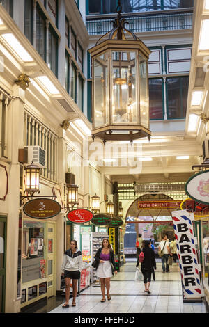 boutique shops in arcade off Queen Street,Auckland,New Zealand,Auckland,North Island,New Zealand,Pacific, - Stock Photo