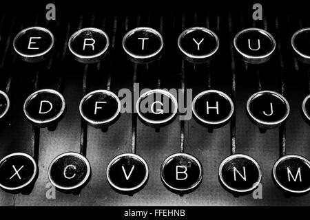 Antique Typewriter keys - Stock Photo