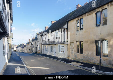 Old stone cottages in Hailes Street, Winchcombe, Gloucestershire - Stock Photo