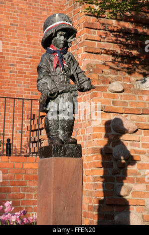Little Insurgent Monument commemorating 1944 Warsaw Uprising - Stock Photo