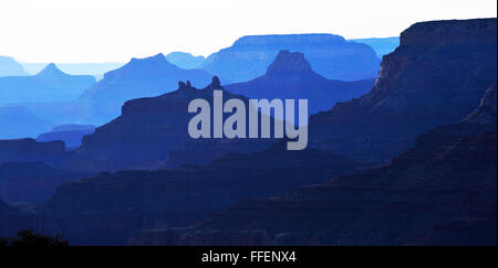 Grand Canyon Arizona a steep-sided canyon carved by Colorado River Native American Indians Inhabited the canyon. - Stock Photo