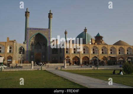 Imam Mosque (Shah Mosque) on Imam Square in Isfahan, Iran - Stock Photo
