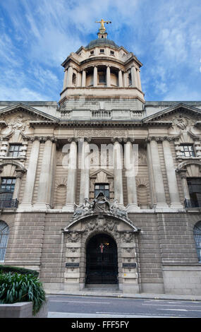 Facade of the 1900 building for the Central Criminal Court, known as the Old Bailey, in central London. Justice - Stock Photo