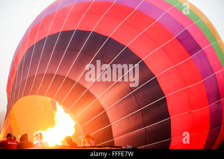 Inflating Hot Air Balloon - Stock Photo