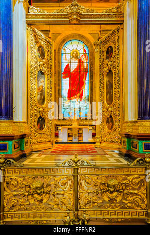 Interior of St. Isaac's Cathedral, Saint Petersburg, Russia - Stock Photo