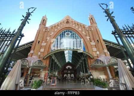 Mercado de Colón, Columbus market, Valencia Spain - Stock Photo