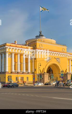Admiralty Embankment, Saint Petersburg, Russia - Stock Photo