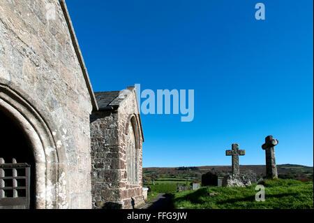 Church St. Pancras Widecombe-in-the-Moor Dartmoor Devon England UK Europe - Stock Photo