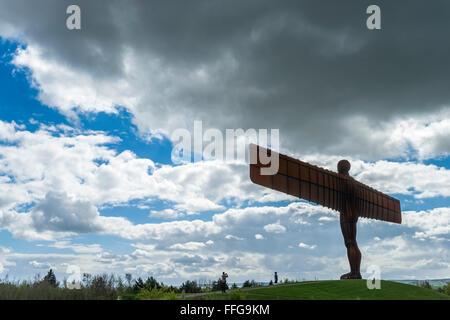 Angel of the North Anthony Gormley Gateshead Tyne and Wear North East England UK Europe - Stock Photo