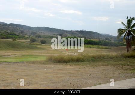 lateral hazard golf course gtmo guantanamo bay cuba - Stock Photo