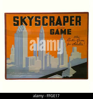 Rochester , New York. Strong Museum of Play. The Skyscraper Game, by Parker Brothers, circa 1937 - Stock Photo