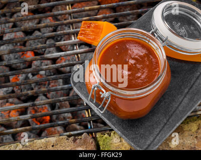 Chipotle BBQ sauce - Stock Photo