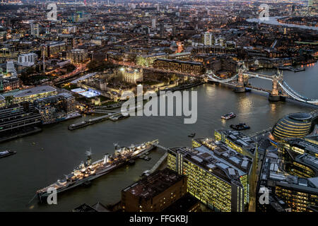 View from the Shard - Stock Photo