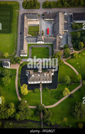 Aerial view, Laer lock on the hen, Meschede, Sauerland, North Rhine-Westphalia, Germany, Europe, Aerial view, birds - Stock Photo