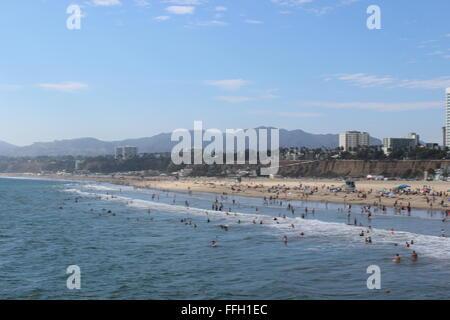 View from Santa Monica pier - Stock Photo
